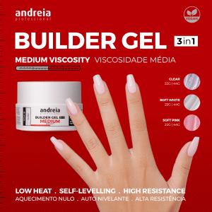 Builder gel Andreia professional medium viscosity Biucosmetics