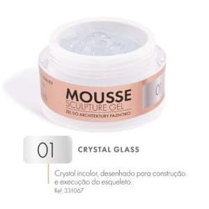 mousse gel crystal glass